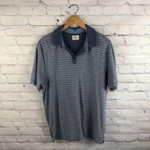 Tommy Bahama Blue Collared Shirt sz L